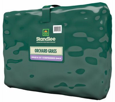 Standlee 1300-20021-0-0 Premium Orchard Grass Grab & Go Compressed Bale, 50 Lbs