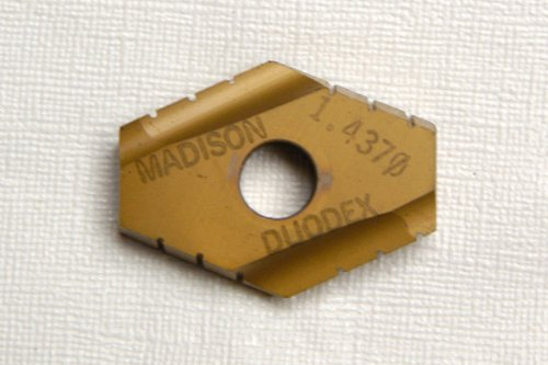 1-7/16 (1.4375) SPADE DRILL INSERT MADE BY MADISON, TIN COATED