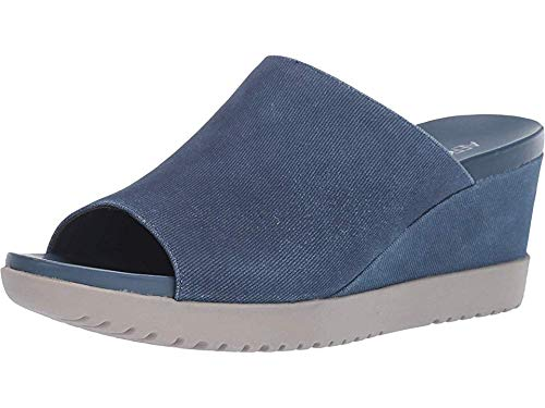 Aerosoles - Women's Blonde Wedge Sandal - Opened Toed Wedge Shoe with Memory Foam Footbed (11M - Denim)