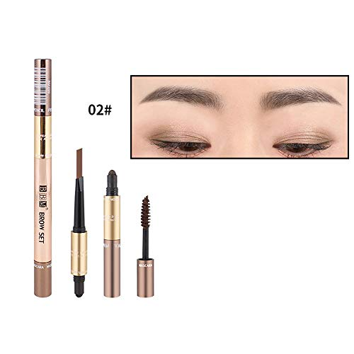 Clearence Brushes KpopBaby Brown Black Eye Liner Waterproof Leopard Eyebrow Eyeliner Pencil Brush