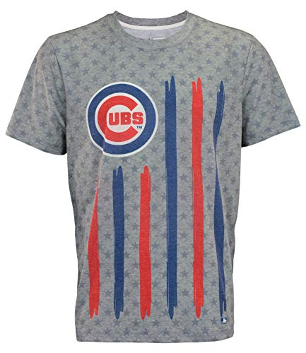 Klew Flag T-Shirt Team Color Chicago Cubs (X-Large)