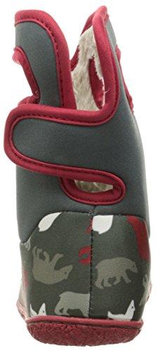 Bogs - botas Wellington con asa para tirar y cierre de velcro–Rosa/Multi–varias tallas disponibles Dark Grey Multi