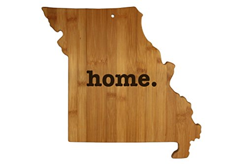 Missouri State Shaped Bamboo Wood Cutting Board Engraved home. Personalized For New Family Home Housewarming Wedding Moving Gift