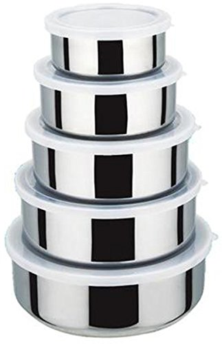 Stainless Steel Bowl 15-Piece Set (Silver) - 8