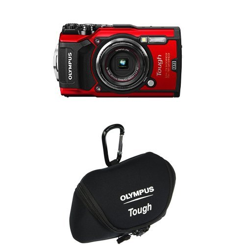 Olympus TG-5 Waterproof Camera with 3-Inch LCD, Red and Came