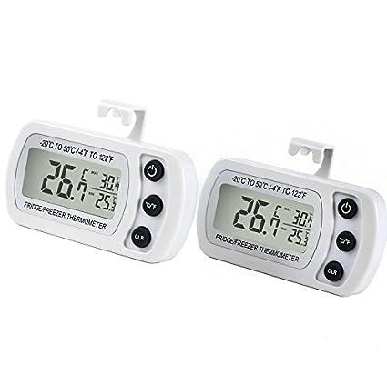 Unigear termómetro frigorífico, LCD Digital termómetro congelador ...