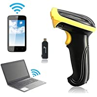 Safstar 2.4GHz Handheld Wireless Laser scanner Barcode Scanner with USB Bluetooth Stick /Wireless Receiver for POS PC Latop