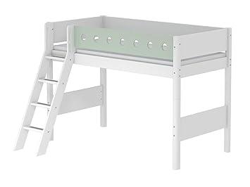 Flexa Etagenbett White : Flexa white hochbett mit schräger leiter weiß höhe cm