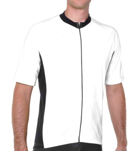 Conquer Road/MTB Endurance Short Sleeve Cycling Jersey, Whit