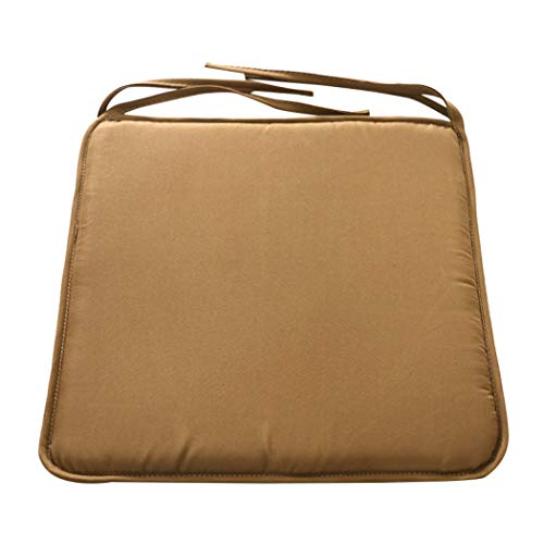 (Solid Color Cushion Soft Comfort Seat Mat Lumbar Pillow Office Chair Seat Bolster Buttocks Tie On Pad 37X37Cm)