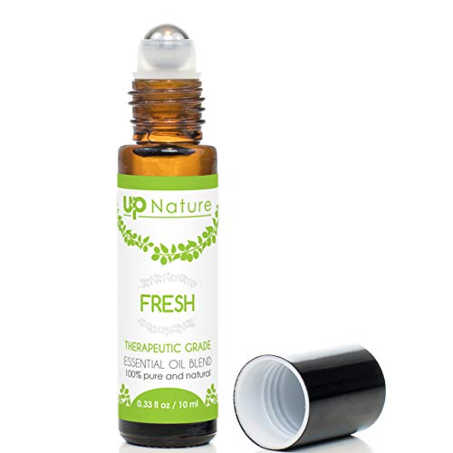 Fresh Essential Oil Roll On - Orange & Lemon Citrus Blend - Clean, Revitalizing Bliss - Stay Motivated & Refreshed - Easy Application - High-Quality - Leak-Proof Rollerball - No - Lemon Citrus