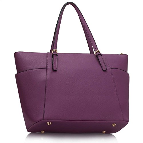 LeahWard® Desinger Trendy Ladies Quality Shoulder Large CWS00350 Fashion Hotselling Bags Tote Purple Bags Handbags Women's Size r0Tnr4Cxqw