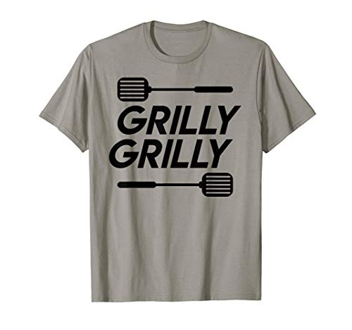 Grilly Grilly BBQ | Funny Backyard Grilling Gift T-Shirt (Backyard Grill Rockwell 4 Burner Gas Grill)