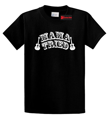 Comical Shirt Men's Mama Tried Cute Country Music Southern Rebel Shirt Black XL