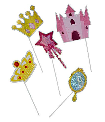 Pack of Princess Themed Party Photo Booth Props - Enchanted Royalty ~ Capture elegant memories! -