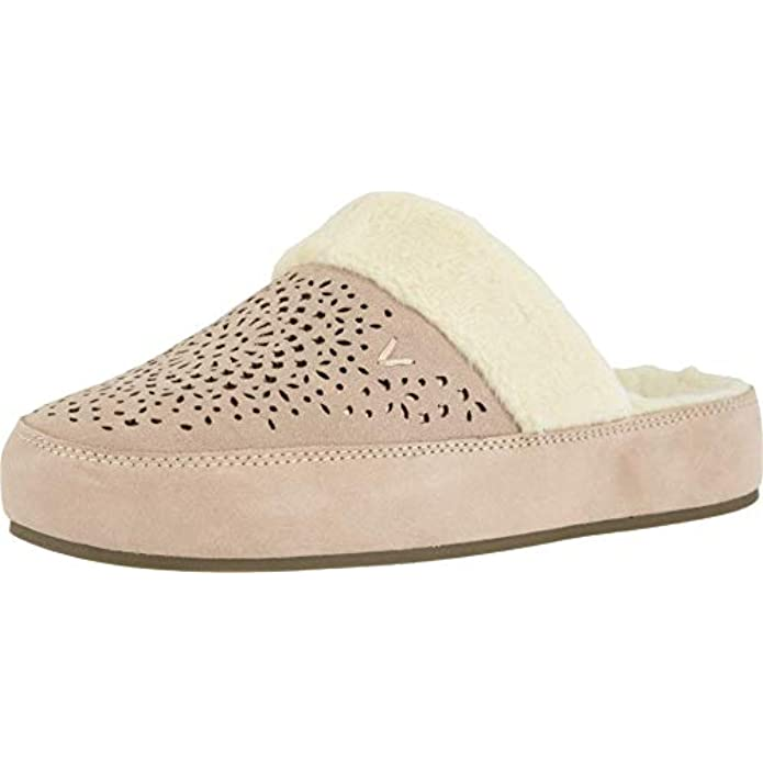 Vionic Women's Sublime Leona Mule Slipper - Ladies Comfortable House Slippers with Concealed Orthotic Arch Support