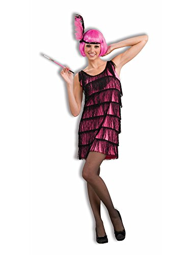 Woman's Jazzy Flapper Costume, Pink/Black, X-Small/Small -