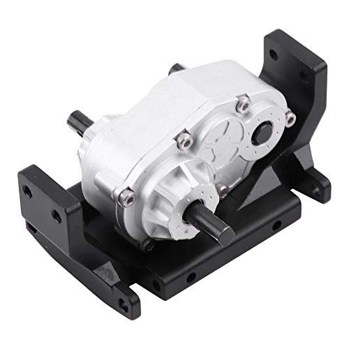 (Gearbox Transfer Case with Mount, Metal Transfer Case with Mount for SCX10 / D90 1/10 RC Crawler Car Components Spare Parts Accessories)