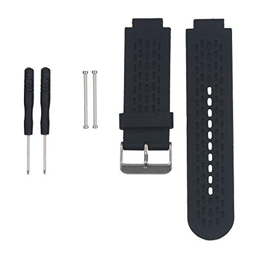 Forgun Silicone Wrist Band Strap for Garmin Approach S2/S4 GPS Golf Watch/Vivoactive (Black)