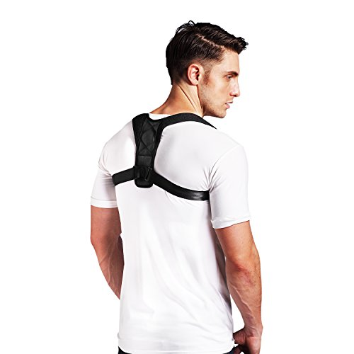 Conbays Back Posture Corrector for Women Men Adjustable Clavicle Brace Support Shoulder Connector Upper Back Pain Relief Posture Support Strap for Home Office by Conbays (Image #2)
