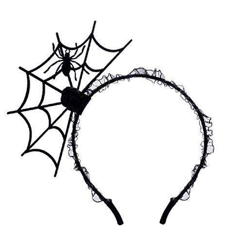 Love Sweety Halloween Spider Ghost Pumpkin Hair Hoop Cosplay Devil Headband (Spider) -
