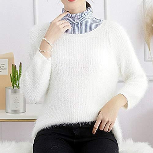 schick Tonsee Frauen Kragen Abnehmbare Hälfte Shirt Elegante