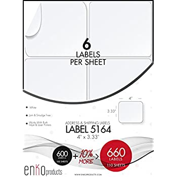 Amazon.com : Avery Shipping Labels for Laser Printers with ...