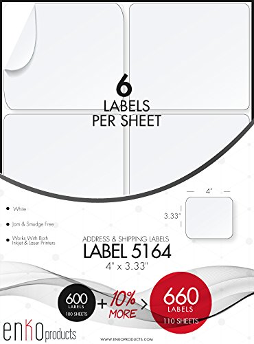 Avery 5164 Compatible Labels - 4