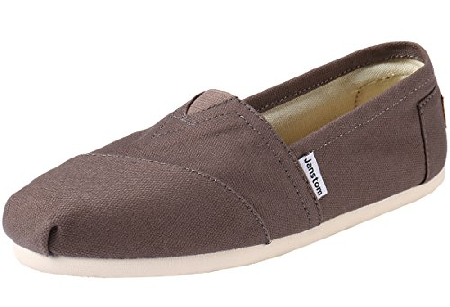 Janstom Women's Classic Casual Slip-On Shoes Loafers Ash 5.5 B(M)-36