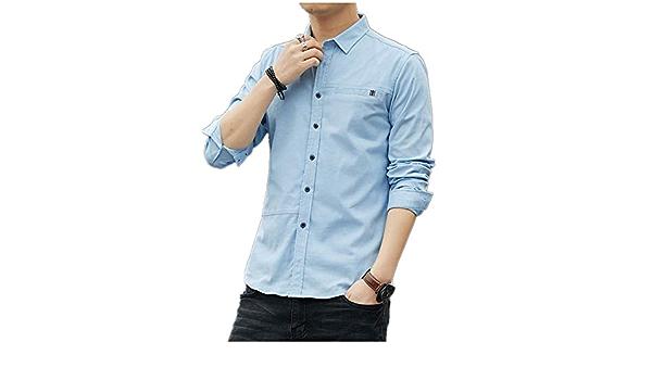 LIBAIYU CamisaCamisas de Vestir para Hombres Camisas Formales ...
