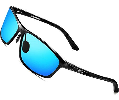 d156d21758 ATTCL Men s Polarized Driving Fishing Golf Sunglasses Al-Mg Metal Frame  Ultra Light (Blue