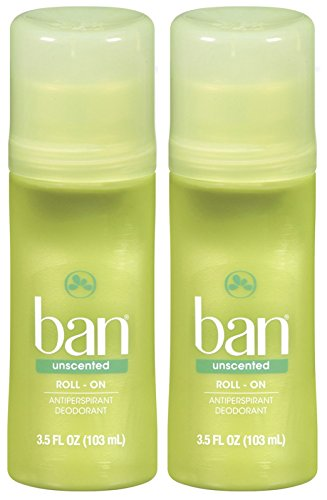 Price comparison product image Ban Roll-On Deodorant, Unscented - 3.5 oz - 2 pk