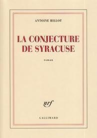 La conjecture de Syracuse par Antoine Billot