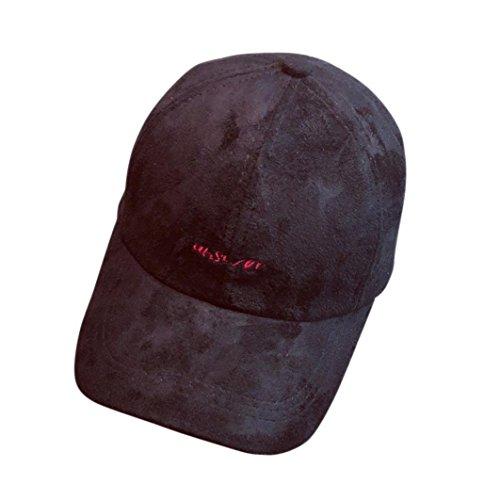 Enjocho Sun Hat, answer'' Letter Embroidery Fashion Baseball Cap For Boys Girls (Black)