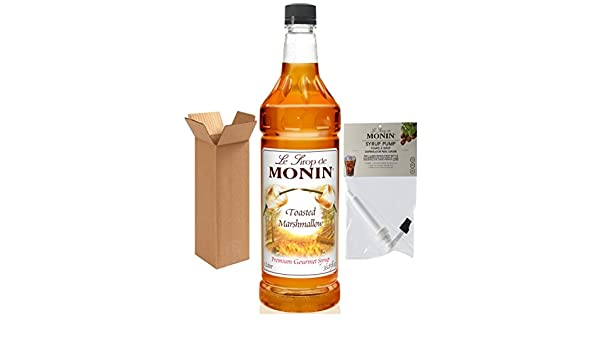 Amazon.com : Monin Toasted Marshmallow Syrup, 33.8-Ounce Plastic Bottle (1 Liter) with Monin BPA Free Pump, Boxed. : Grocery & Gourmet Food