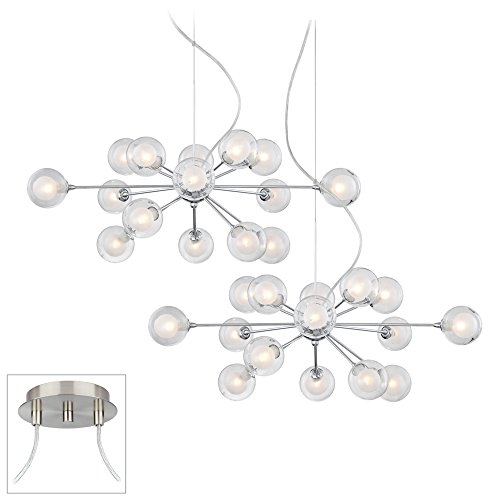 Possini Euro Orbs Chrome – Nickel Double Multi Light Pendant