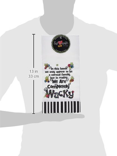 UPC 703800048981, Brownlow Kitchen Completely Wacky Gifts Tea Towel, White/Black