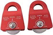 YUPVM 20kN Pulley Mobile -Prusik Minding Pulley 1/2 inch for Rigging Arborist Climbing Hiking Skiing