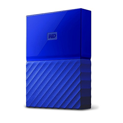 WD My Passport 3TB External USB 3.0 Portable Hard Drive Blue WDBYFT0030BBL-WESN