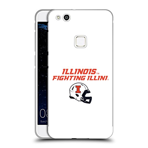 Official University Of Illinois U Of I Helmet Logotype Black Metallic Aluminum Bumper for Huawei P10 Lite (Head Case Helmet)