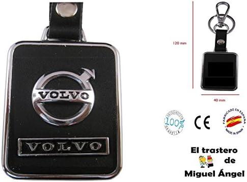 ETMA Porte-cl/és en Cuir et m/étal Compatible avec Volvo lla017-21