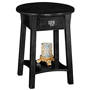 Leick Anyplace Side End Table, Slate Black