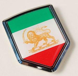 Iran Iranian Persian Flag Car Chrome Emblem Decal Sticker
