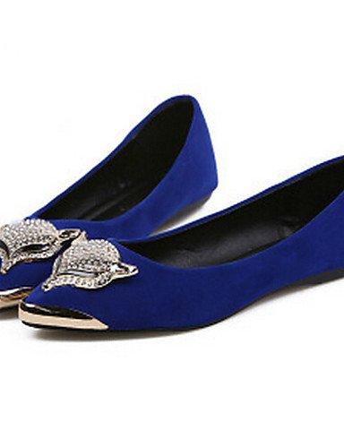 Flats uk3 cn35 ante azul 5 negro de casual blue plano de vestido talón 5 eu36 señaló Toe Toe PDX cerrado us5 mujer comodidad zapatos xF1fqfwA7