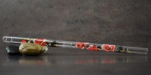 Hall Crystal Flute 11214 - Inline Glass Piccolo in C - Rose/Gold