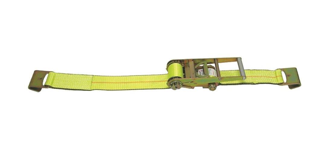 Liftall TE26425 Ratchet Assembly TE Flat HK, 4'' x 30', #15000 Load Hugger Tuff-Edge Tiedown, 14.0'' Length, 11.0'' Width