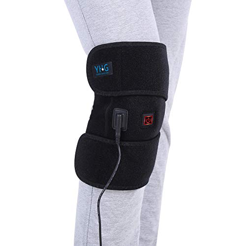 Knee Heating Pad Thermal Heat Therapy Wrap Hot Compress for Cramps Arthritis Pain Relief Injury Recovery 1 Button Control 3 Heat-Settings with 6.6ft Power Cord, Washable, Fits Women Men