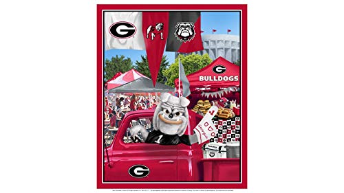 (University of Georgia Cotton Fabric Panel with Tailgate Design-Sold by The Panel)