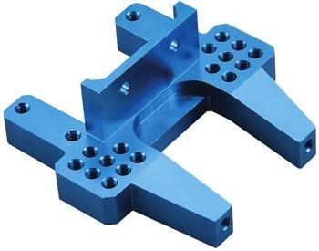 Duratrax Bulkhead Rear Anodized Aluminum Blue Nitro Evader (Anodized Aluminum Rear Bulkhead)