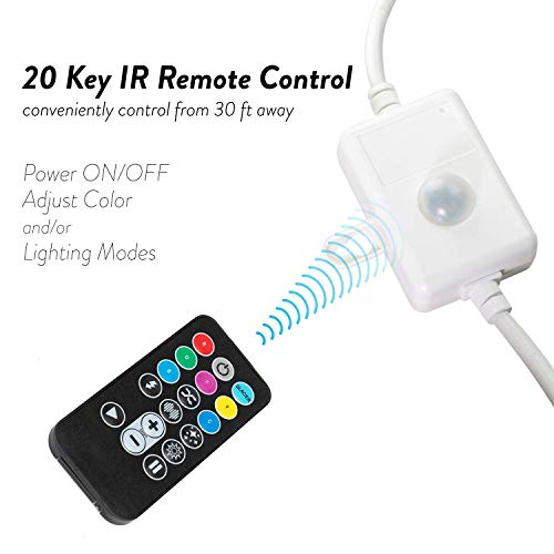 WYZworks 1/2'' (100' feet) Multi-Colors + 8 Color Modes & 4 Lighting Effects LED Rope Lights w/Remote Controller 2 Wire Accent Extendable Holiday Christmas Lighting | ETL Certified by WYZworks (Image #2)